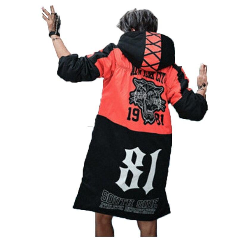 Image 2 - Женская куртка с капюшоном Vefadisa, черная Толстая парка с  принтом из мультфильма, 5 видов стилей, зима 2019Парки