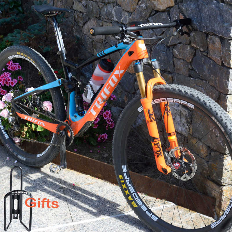 TRIFOX Carbon Full Suspension Frame MTB 29 Cadre vtt Carbone T800 Mountain Bike Frame 148*12mm Marco de bicicleta