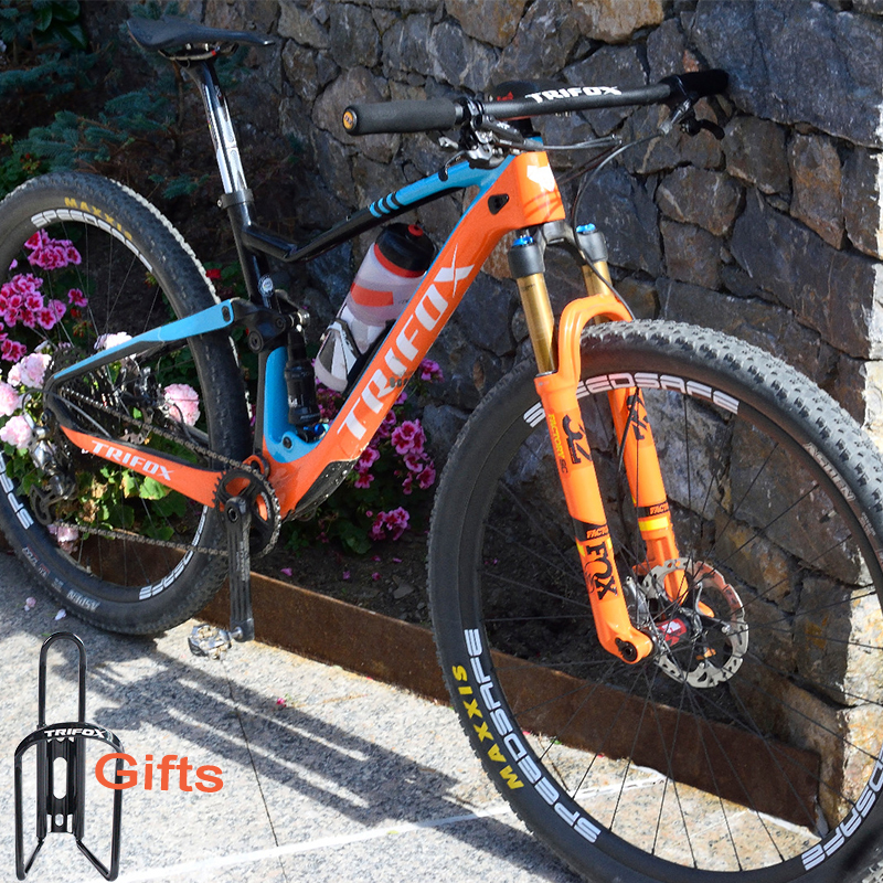 TRIFOX Carbon Full Suspension Frame MTB 29 Cadre Vtt Carbone T800 Mountain Bike Frame 148*12mm Marco De Bicicleta
