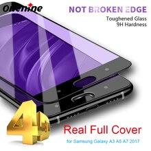 Onenine 4D, vidrio templado tallado para Xiaomi Mi 6, Protector de pantalla de cobertura completa 3D curvo 9H, película endurecida para Xiaomi Mi6 Plus