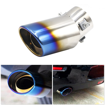 цена на Universal Car Exhaust Muffler Tip Round Stainless Steel Pipe Chrome Exhaust Tail Muffler Tip Pipe Silver Car Accessories Muffler