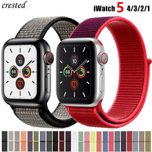 Нейлоновый ремешок для Apple watch 5 ремешок 44 мм 40 мм iWatch ремешок 42 мм 38 мм спортивный ремешок для часов Браслет Apple watch 4 3 2 1 38 40 44 мм