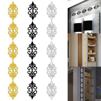 Kreatywny 3D akrylowa ściana lustrzana naklejki kalkomanie talia listwa przypodłogowa samoprzylepne tło lustra ścienne dekoracje dla domu DIY tanie i dobre opinie CN (pochodzenie) Obramowany Mirror-016 Z tworzywa sztucznego