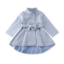 2019 1-5T Kid Baby Girls Coat Trench Dress Toddler Children Windbreaker Outerwea