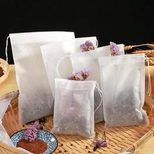 50Pcs Disposable Tea Bags Empty Scented Tea Bag With String Heal Seal Filter Paper for Herb Loose Tea Tools
