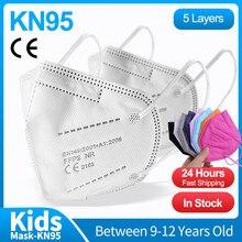 Kn95 máscaras infantis n95 crianças especial reutilizável 5 ply filtro máscaras faciais crianças máscara protetora mascarillas niños ffp2mask