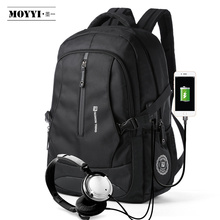 "MOYYI Men Travel Backpack Large Capacity Teenager Male Mochila Anti thief Bag 14 15.6 17.3"" Laptop Backpack Waterproof Bags"