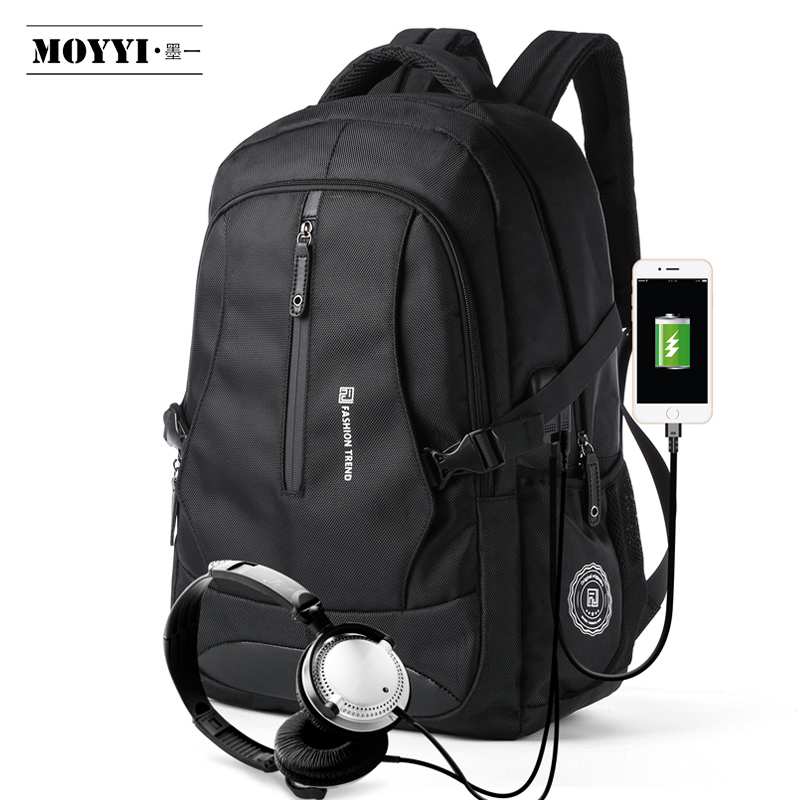 MOYYI Men Travel Backpack Large Capacity Teenager Male Mochila Back Anti-thief Bag 17.3