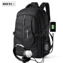 """MOYYI hommes voyage sac à dos grande capacité adolescent mâle Mochila sac Anti vol 14 15.6 17.3 """"sac à dos pour ordinateur portable sacs imperméables"""