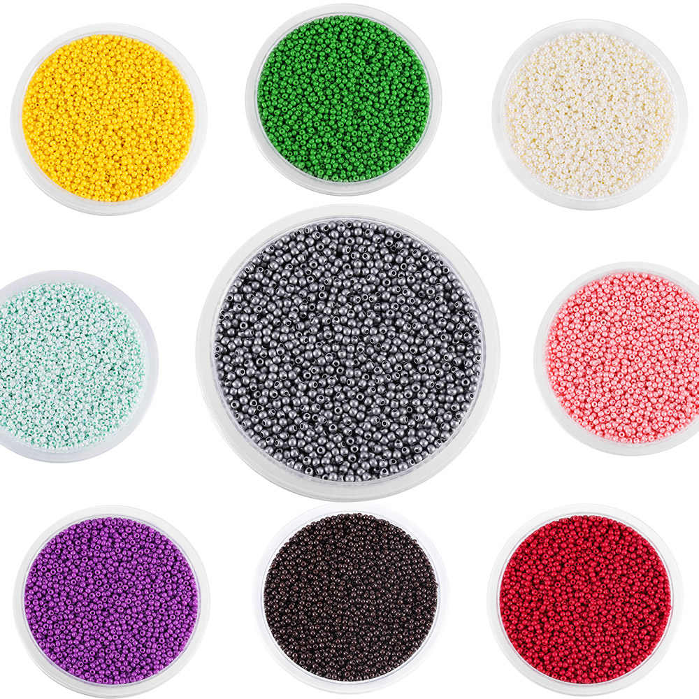 1800 pçs/lote 2mm charme miyuki delica grânulos de semente de vidro checa pequeno grânulo solto redondo para diy jóias fazendo brincos pulseira
