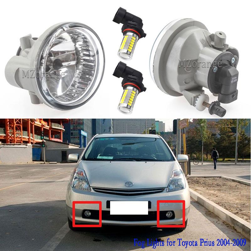 Для Toyota Prius 2004-2009 светодиодный фонарь светильник тумана светильник s для Highlander эхо MR2 Spyder Scion xA туман светильник противотуманная фара в сборе ...