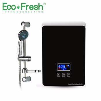 Ecofresh Mini Kitchen Use Remote Control Instant Electric Tankless Hot Shower Water Heater For Bathroom Shower ship from germany 6l portable outdoor shower lpg propane gas tankless instant hot water heater boiler shower head