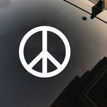 Peace Sign Symbol Car Vehicle Body Window Reflective Decals Sticker Decoration Car Exterior Accessories 2019 New Funny Sign 2