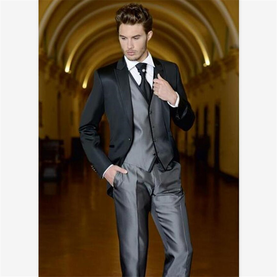 New Classic Men's Suit Smolking Noivo Terno Slim Fit Easculino Evening Suits For Men Bespoke Notch Lapel Groom Prom  Blazer