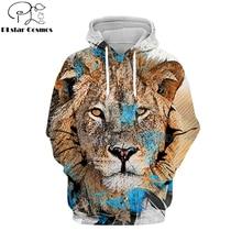 PLstar Cosmos Hot sell casual 3D hoodies/sweatshirts/shirt print the Lion King Simba Men/women's slim long sleeve streetwear-11 цена