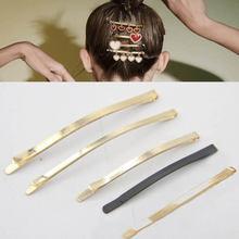 Заколки для волос золотого цвета kc с пустой основой 10 шт 60/83