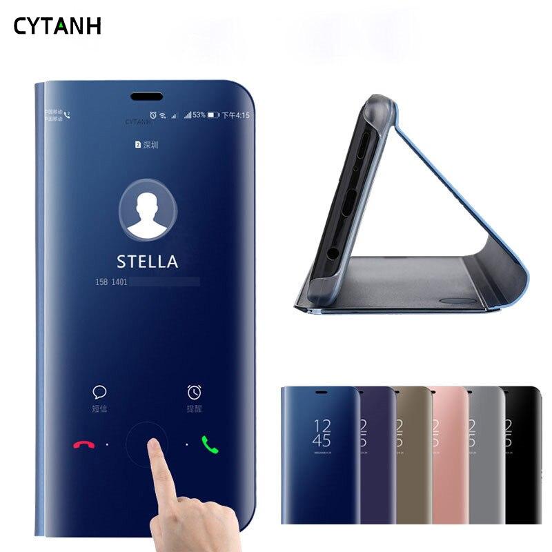 Ayna akıllı kılıfı için huawei p akıllı Z STK-LX1 kitap telefon kapak huawei p akıllı 2019 psmart artı psmartZ funda kapak standı coque