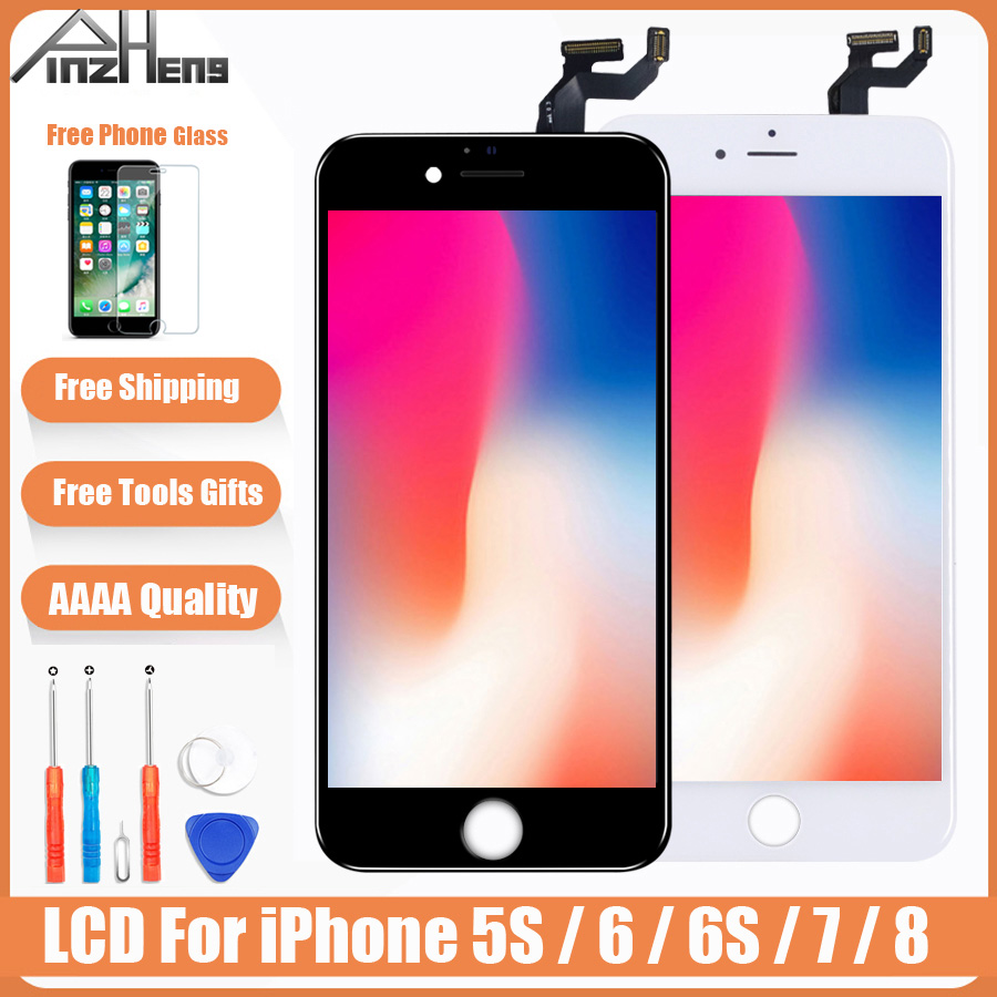 AAAA <font><b>Original</b></font> Color Screen <font><b>LCD</b></font> For <font><b>iPhone</b></font> <font><b>5s</b></font> 6 6s 7 8 <font><b>LCD</b></font> Display Assembly Digitizer No Dead Pixel With 3D Touch Replacement <font><b>LCD</b></font> image