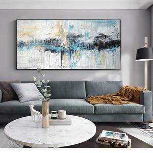 Image 2 - Abstrakte kunst malerei moderne wand kunst leinwand bilder große wand gemälde handgemachte ölgemälde für wohnzimmer wand dekor kunst
