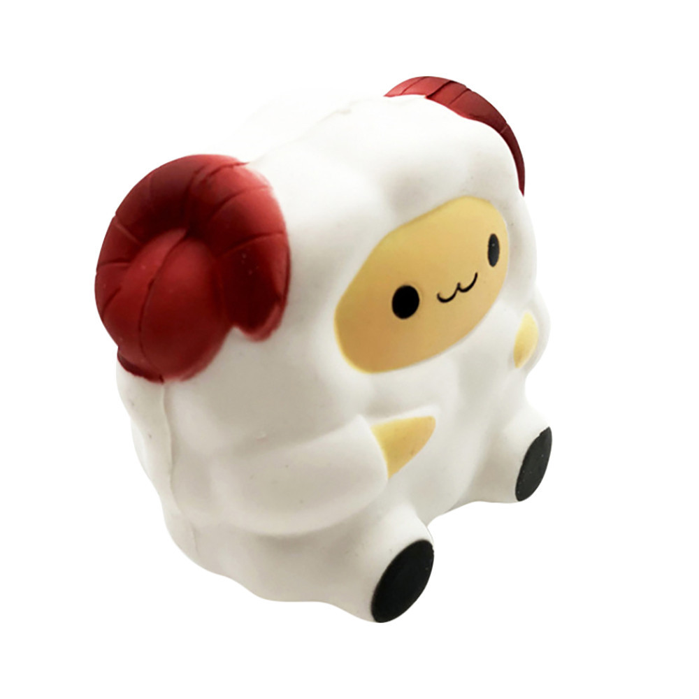 Cartoon Cute Sheep Slow Rising Decompression Cure Gift Antistress Novelty Fun Toys Gift For Children Mood Vent Artifact #B