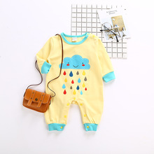 2020 Newborn Baby Boys Girls Jumpsuit Infant Autumn Cotton Long Sleeves Clothes Toddler Character Clothing Unisex Casual Rompers