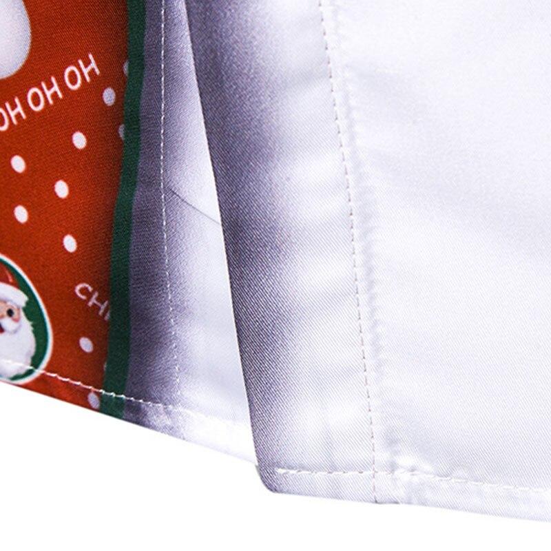 Teraz świąteczna koszula męska 3D drukowana Streetwear  3XhRx