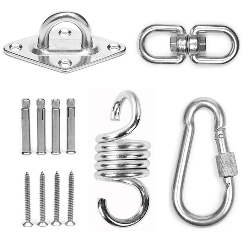 Swivel Hook For Hammock Swing Chair Stainless Steel Sandbag Bag Suspension Hoisting Hardware Hanging Basket Cane Chair Parts