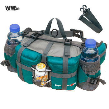 Professional 800D Outdoor Hiking Waist Pack Cycling Waist Bag Backpack 11 colors Mountaineering Bag Multifunction 6 Water Bottle