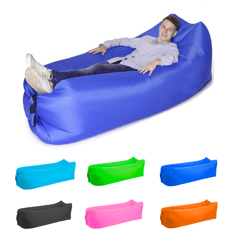 Camping Inflatable Lazy Sofa Outdoor Lazy Bag Ultralight Beach Camping Travel Sleeping Bag Air Bed Lounger Chair Sleep Camp Bag