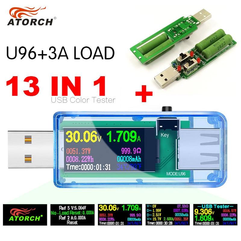 ATORCH USB testeris + apkrova DC Skaitmeninis voltmetras amperimetro - Matavimo prietaisai - Nuotrauka 6