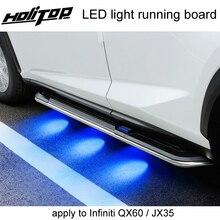 Nouvelle technologie LED marche latérale/marchepied/barre latérale pour Infiniti QX QX60 JX35, style à la mode, en alliage daluminium épais, haut vlaule