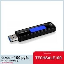 USB-флешка Transcend JetFlash 760, 64 Гб, USB 3.0, чёрный/синий, TS64GJF760