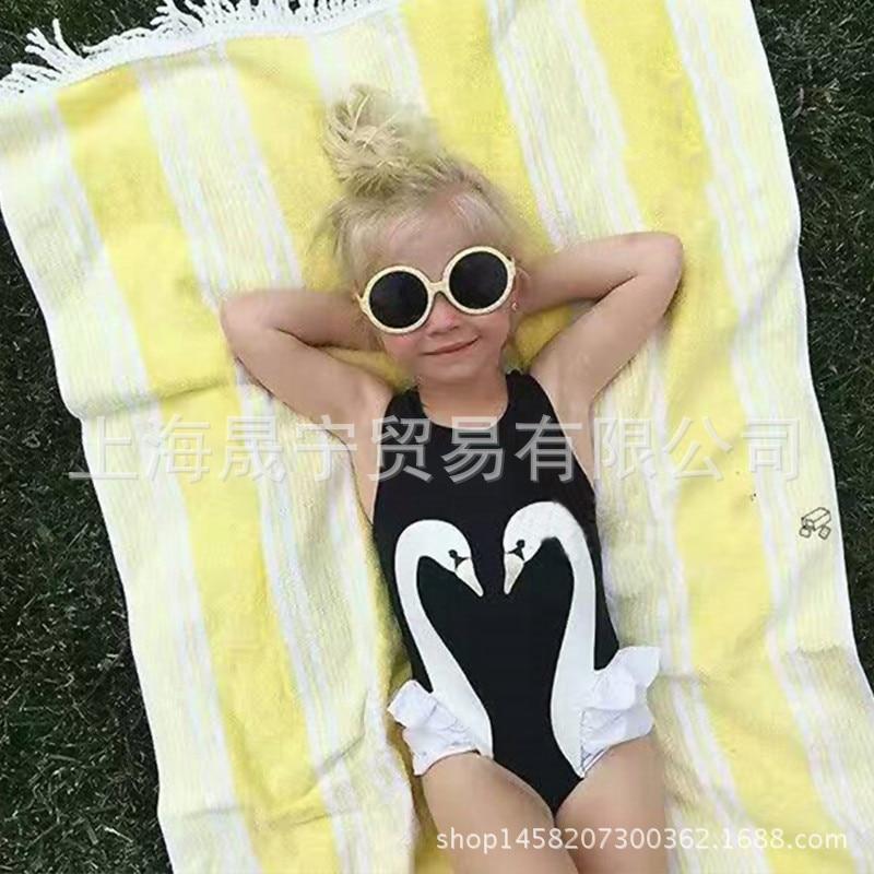 Hot Selling Girls Swan Bathing Suit Bikini Beachwear