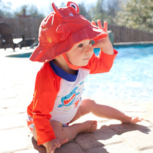 Diaper-Set Swimsuit 2-Piece Sun-Protection Baby/toddler Girls Summer Cute Set-With Sun-Hat