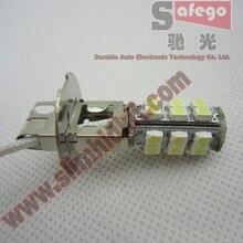 цена на Safego 1pcs H3 1210 3528 LED Fog Light 25SMD LED Car Fog Lamp Bulb 12V White 6000K for H1 Headlight Turn Signal Parking Light