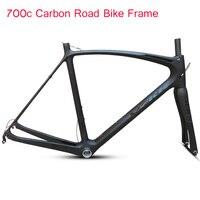 2019 New 700C Carbon Frame Road Bike Frameset with Full Carbon 700c Bike Fork