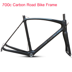 2019 neue 700C Carbon Road Rahmen Full Carbon Rennrad Rahmen mit 700c Bike Gabel