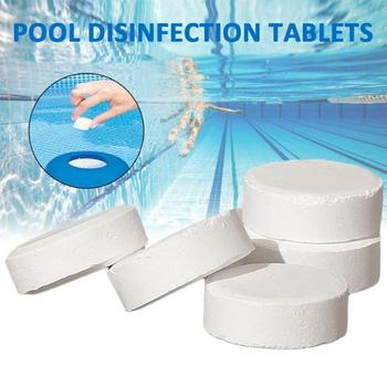 50 Pcs Wholesale Chlorine Tablets Multifunction Instant Disinfection for Swimming Pool Tub Spa Cleaning Effervescent Chlorine 50 pieces of swimming pool instant disinfection tablets chlorine dioxide effervescent tablets disinfectant chlorine disinfectant
