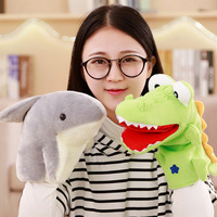 Crocodile Shark Plush Toys Hand Puppet Kindergarten Activity Props Customizable Logo