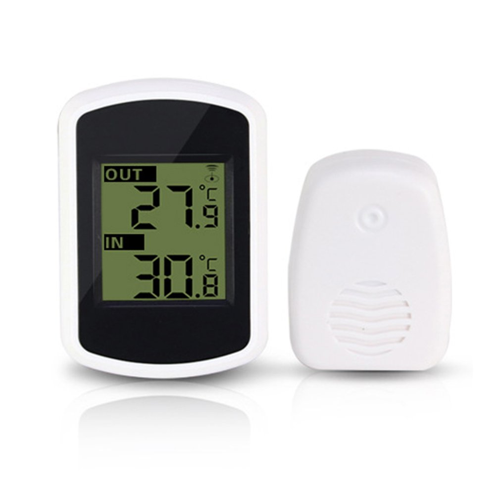 Digital LCD Thermometer Indoor Outdoor Wireless Temperature Meter Sensor Temperature Measurement Ambient Weather Tester
