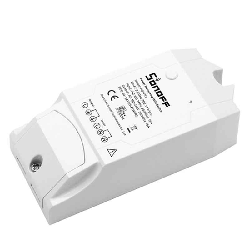 SONOFF POW R2 15A 3500W controlador de interruptor Wifi en tiempo Real consumo de energía Monitor medición para domótica inteligente A5YD