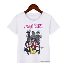 Футболка для мальчиков и девочек с рисунком gorillaz rock band