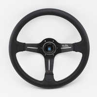 ND Deep Dished Leather Steering Wheel 14inch 350mm Auto Racing Drifting Steering wheels Great Look