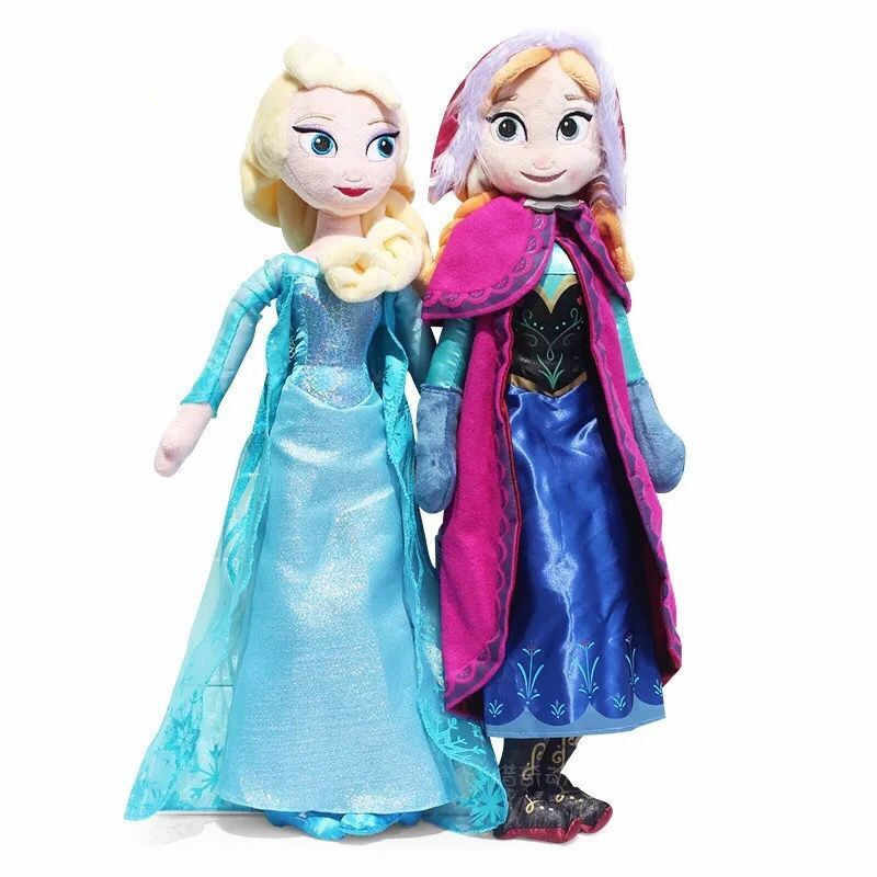 קפוא 2 שלג מלכת נסיכת אנה אלזה בפלאש בובת צעצועי אנה & אלזה בובת צעצוע אולף ממולא צעצועים לילדים ילדה מתנות