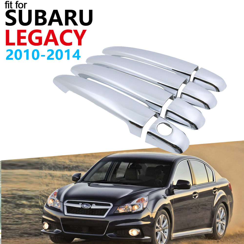 Luxurious Chrome Exterior Handle Cover Trim Set For Subaru Legacy BM BR 2010~2014 Accessories Car Stickers 2013 2012 2011 4Door