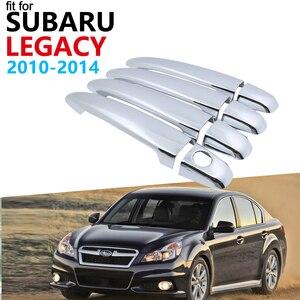 Luxurious Chrome Exterior Handle Cover Trim Set for Subaru Legacy BM BR 2010~2014 Accessories Car Stickers 2013 2012 2011 4Door
