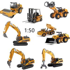 Sale Simulation puzzle alloy engineering collection,exquisite gift 1:50 excavator-forklift-transport car toy model,free shipping