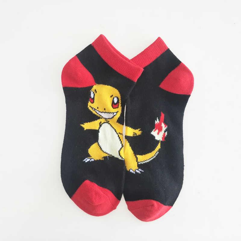 Anime Pokemon Pikachu Charmander Psyduck Squirtle Casual Calzini E Calzettoni 3D Stampato Del Fumetto Caviglia Calzini E Calzettoni Kawaii Harajuku Nuovo