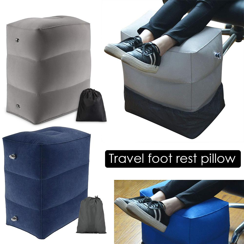 Kids Flight Sleeping Resting Pillow On Airplane Car Bus Pillow Inflatable Travel Foot Rest Pillow Folding Adjustable Footstool 4 image