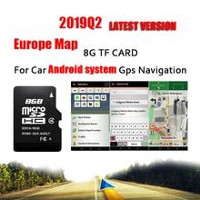 Подходит для системы Android Автомобильный gps навигатор 8 Гб Micro SD карта Европы для Франции, Италии, Норвегии, Польши, России, Испании и т. д